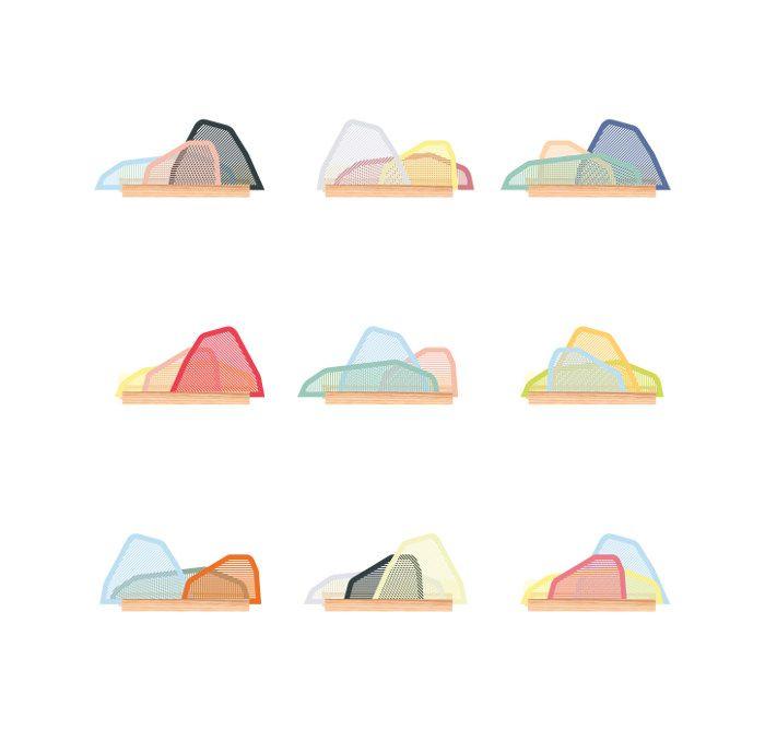 Lampe modulable Paysage par Camille Hesnard, finaliste du Prix Cinna Révélateur de Talents.