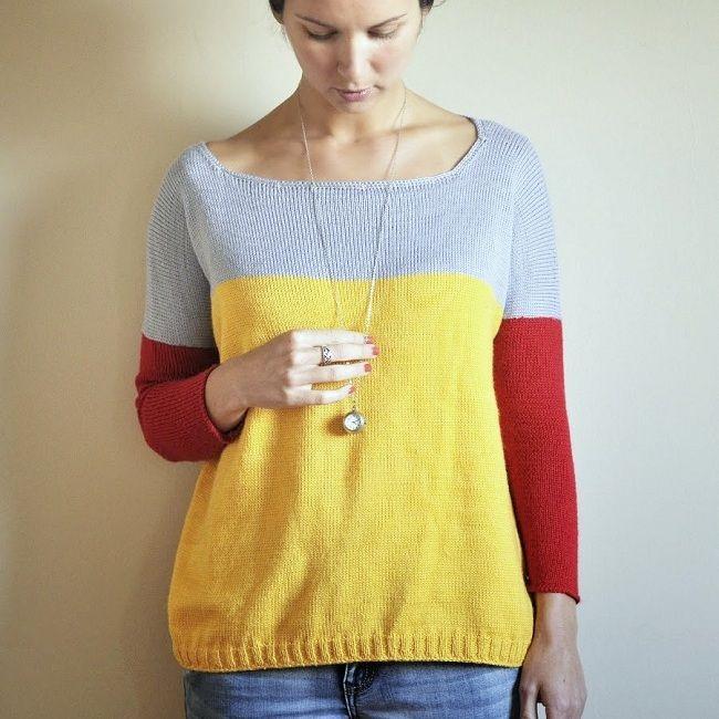 модный свитер оверсайз спицами