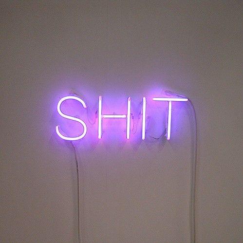 merde: Neonlight, Stuff, Quotes, Neon Lights, Neon Signs, Art, Neon Neon, Things, Neon Shit
