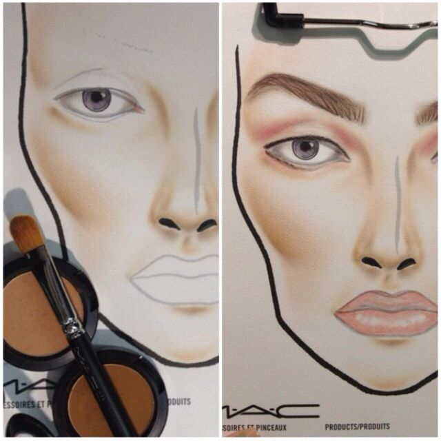 Process Of A Face Chart