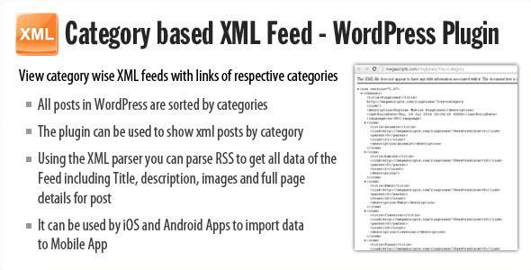 awesome Category based XML feed - Plugin