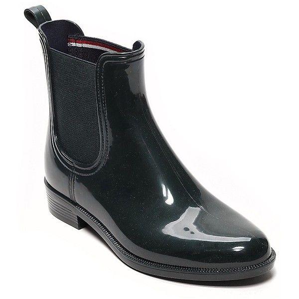 Tommy Hilfiger Ankle Rainboot (€71) liked on Polyvore ...