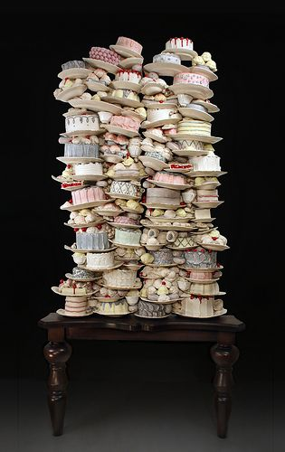 Dirk Staschke: ceramic and mixed media, 102 x 48 x 9 inches