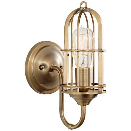 336 best images about wall sconce on pinterest for Brass bathroom sconce