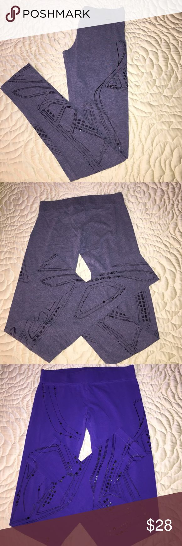 2 pair of Diesel leggings size S .. Two pair of diesel leggings. They are a thin material and have been used but are still great pants. Two pair for one price. A purple pair and a gray pair.  Size S Diesel Pants Leggings