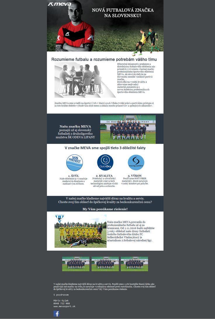 Takto vyzerá newsletter pre nášho klienta Meva Sport. Samozrejme vždy podľa požiadaviek klienta :) #high5 #newsletter #email