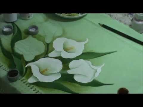 Pintando copo de leite com Sorayacarneiro-artes