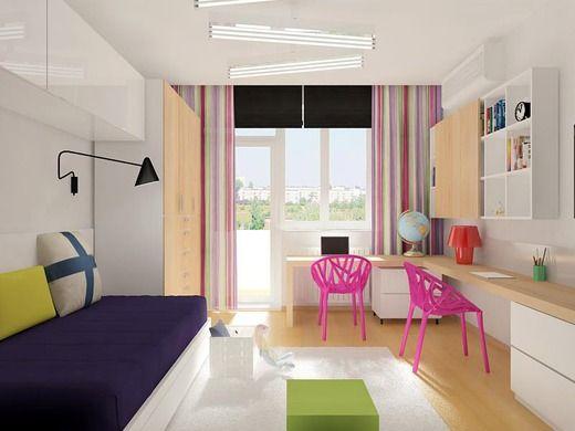 Детская комната для двух девочек, Екатеринбург, 2013 г.. Детская