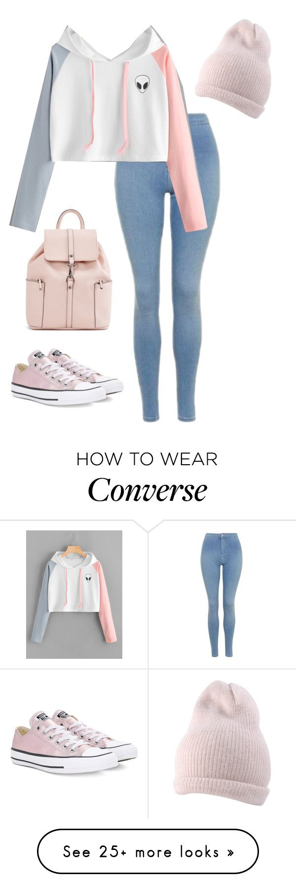 """Untitled #784"" by imane-99 on Polyvore featuring Topshop and Converse"