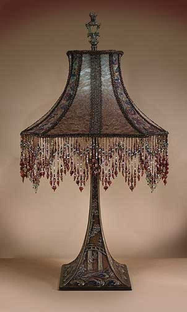 78 best idees deco images on pinterest antique lamps for Antique floor lamp with fringed shade