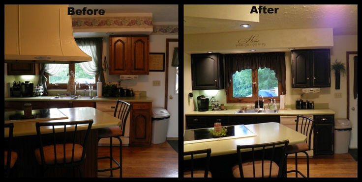 Kitchen Remodel Under 1000 We Removed The Range Hood And Put In Mini Can Lights Repainted The