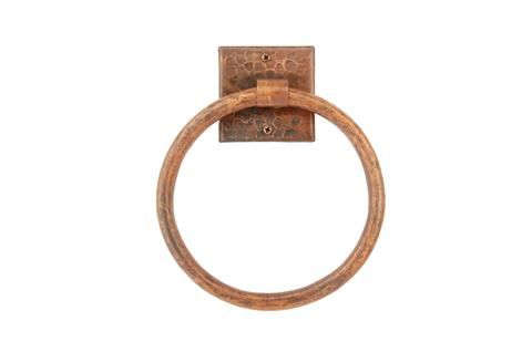 178mm Hand Hammered Copper Towel Ring