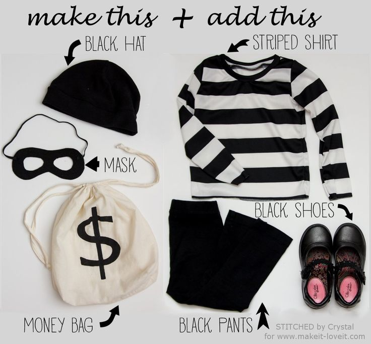 """KID or ADULT BANDIT Costume Last Minute """"Little Bandit"""" Costume 