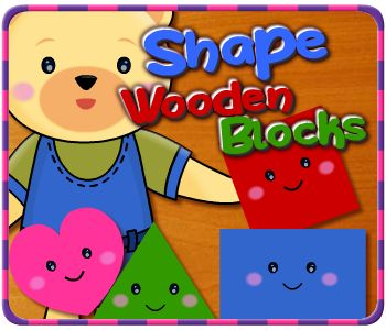 Shape wooden blocks is a fun game for toddlers and kids.