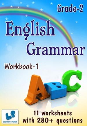 GRADE-2-ENGLISH-GRAMMAR-WORKBOOK-1 This workbook contains printable worksheets on English – Grammar (Correct Capitalization, Articles, Recognizing Action Words, Singular-Plural) for Grade-2 students.  There are total 11 worksheets with 280+ questions.   Pattern of questions : Multiple Choice Questions…    PRICE :- RS.149.00