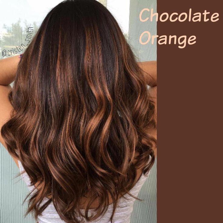 Chocolate Orange Hazelnut Hair Mocha Hair Balayage Hair