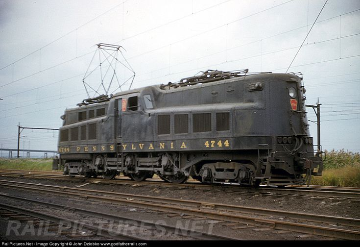 RailPictures.Net Photo: PRR 4744 Pennsylvania Railroad P5A at Kearny, New Jersey by John Dziobko www.godfatherrails.com
