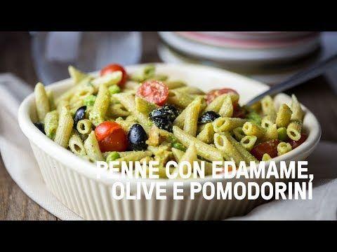Pasta fredda estiva vegan con edamame, pomodorini, olive e crema di zucchine - YouTube