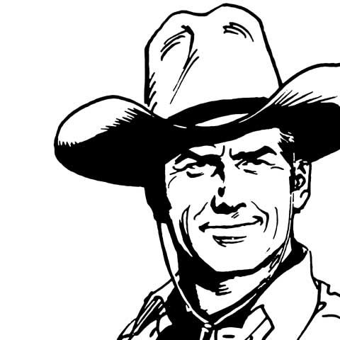 17 best images about lineart western on pinterest - Cowboy foglio da colorare ...