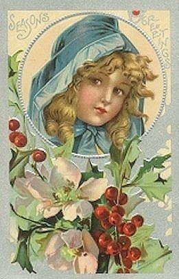 vintage christmas postcards | ... Vintage Holiday Crafts » Blog Archive » Free Vintage Christmas Cards