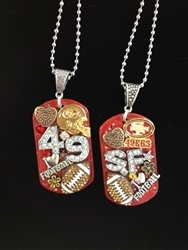 Handmade SF Forty Niners Dog tags $29.95@ www.justbelievegifts.com
