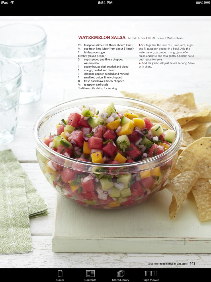 Watermelon salsa yum! | Appetizers | Pinterest