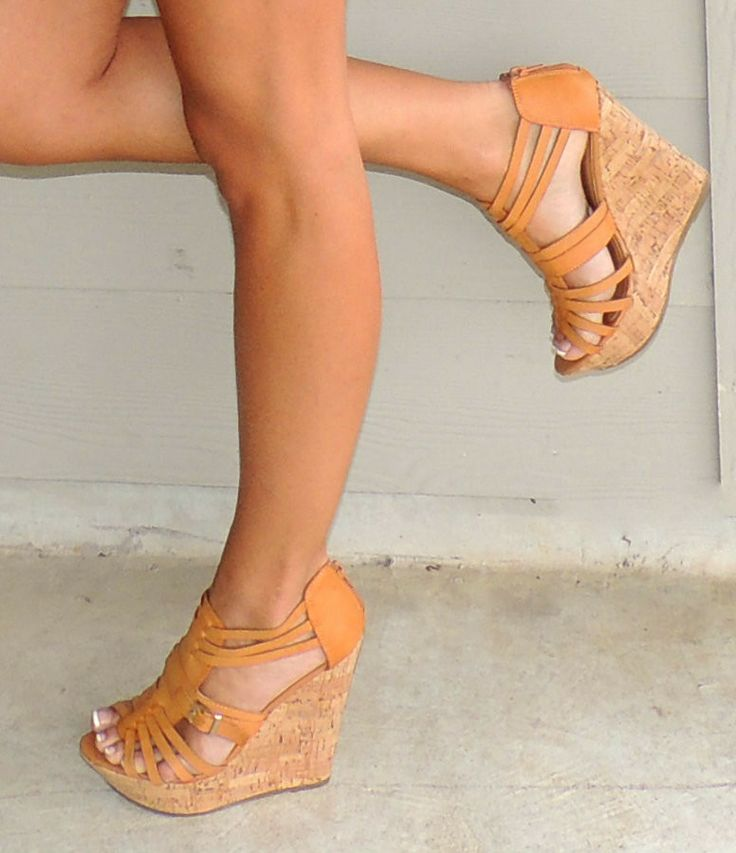 Adorable Tan Wedges - Closet Essentials