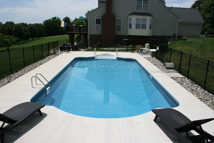 Roman Style Pool With Brushed Concrete Decking Http Www