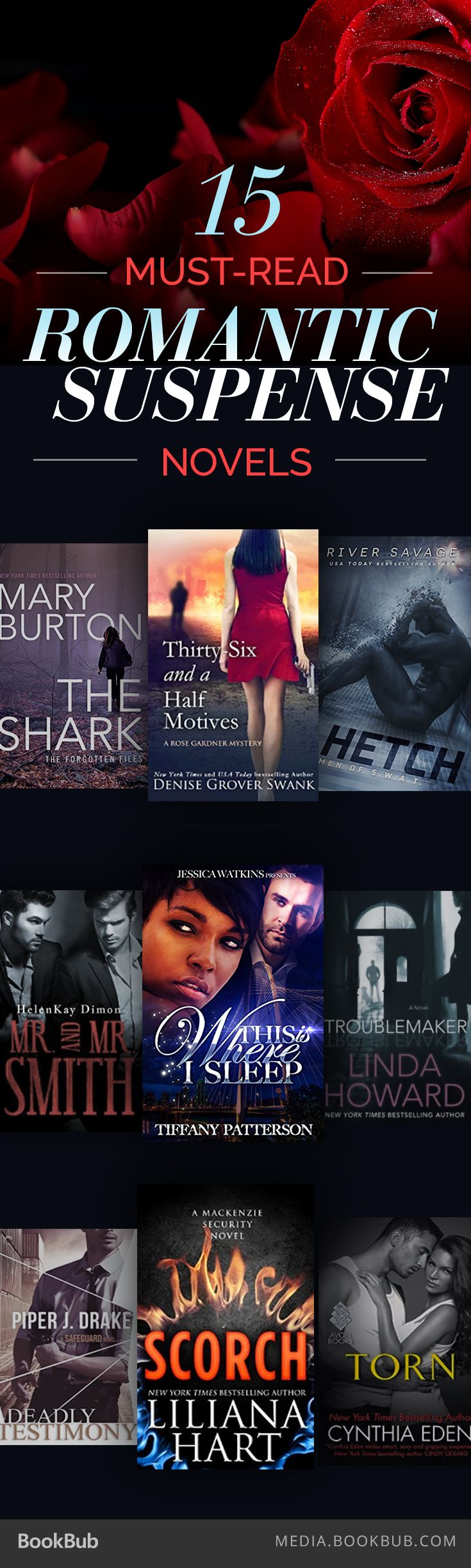 15 Romantic Suspense Novelsing Out This Summer