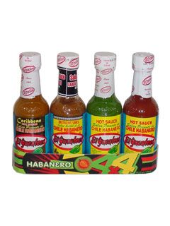 El Yucateco 4 Habanero Hot Sauces Gift Pack $13.95