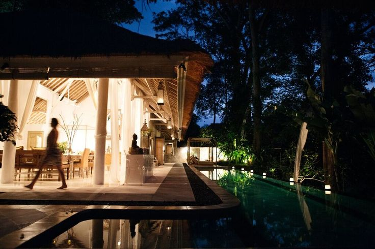 Villa Sungai by night