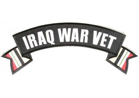Iraq War Vet rocker patch with flags