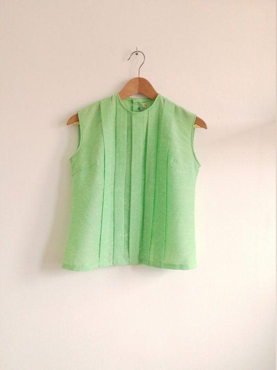 Blusa mujer verde menta. Blusa sin mangas verde por AnnaBolenna