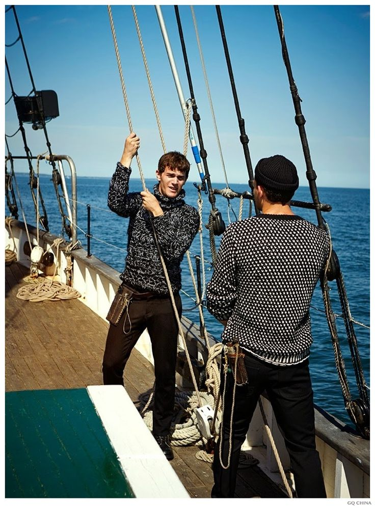 GQ China Fashion Editorial 002 On Board: Vincent LaCrocq + More Model Nautical Styles for GQ China