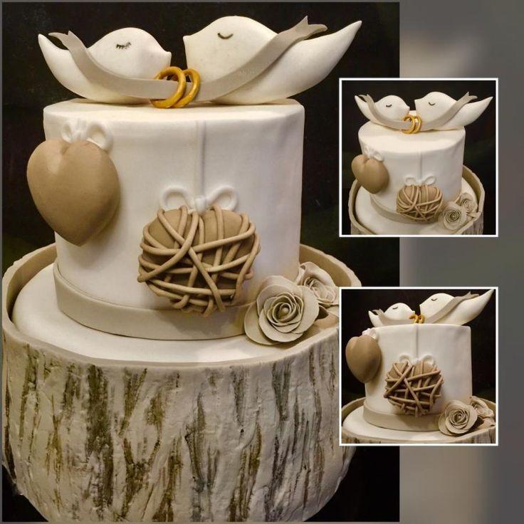 30th wedding anniversary by Dolce Follia-cake design (Suzy) - http://cakesdecor.com/cakes/266083-30th-wedding-anniversary