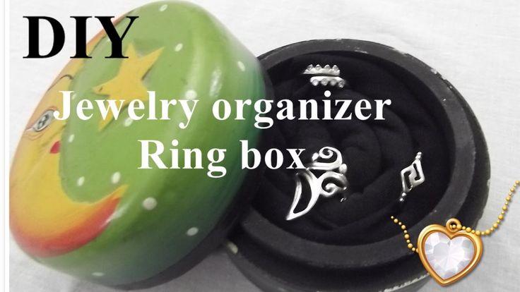 DIY Jewelry organizer - Ring box - Κουτί οργάνωσης Δαχτυλιδιών