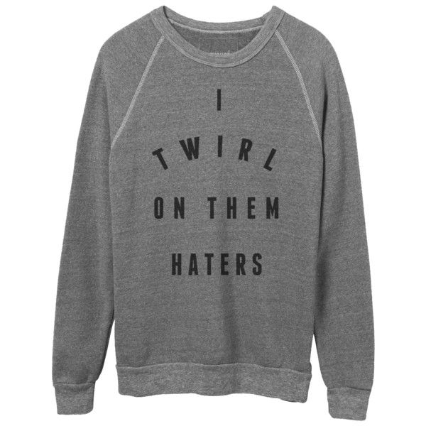 Haters Crewneck Sweatshirt found on Polyvore featuring tops, hoodies, sweatshirts, sweaters, shirts, grey crewneck sweatshirt, gray shirt, fleece shirt, crew shirt and grey crew neck sweatshirt
