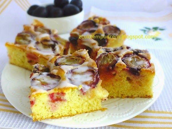 z cukrem pudrem: wyborne ciasto ze śliwkami