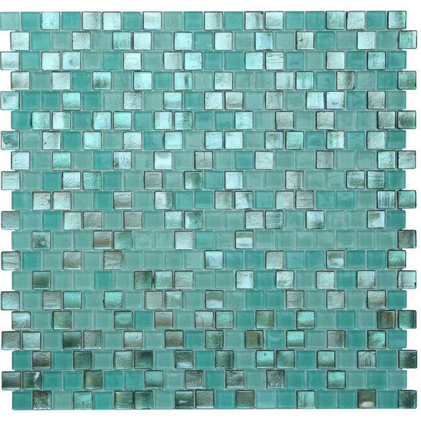 The Cool Blue Colors Of This Modern Glass Mosaic Tile Bring A Touch Of Miami Style To Contemporary Bathroom Mosaic Tiles Glass Mosaic Tiles Living Room Remodel