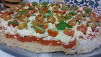 Massa de Pizza feita com bagaço de malte
