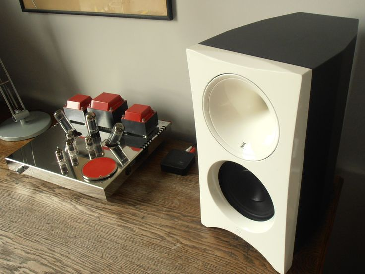Egg-Shell Classic 9WLT - integrated vacuum tube amplifier with Zingali Zero Bookshelf speakers. Very nice set!