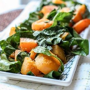 thyme roasted squash butternut squash is roasted with a topping of ...