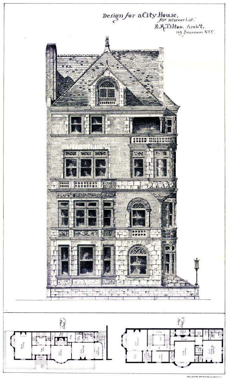 A Gentleman's Prospect, archimaps: Design for an urban residence on a...