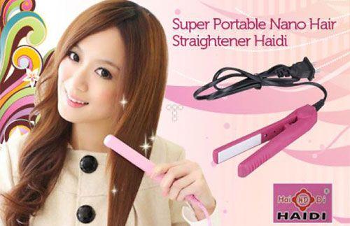 Super Portable Haidi Mini Hair Straightener NOW ONLY Rp 25.000,-