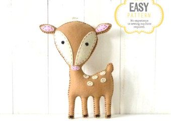 Woodland Stuffed Animal Patterns Felt Fox par LittleSoftieShoppe