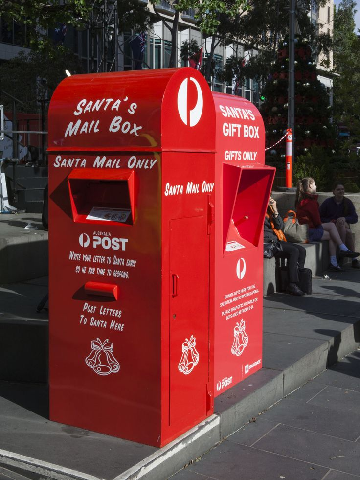Here is a dedicated Santa Mail post box, but you can send him a letter and receive a reply through any red post box. A video guide here: http://auspo.st/2fCH5au  #SantaMail