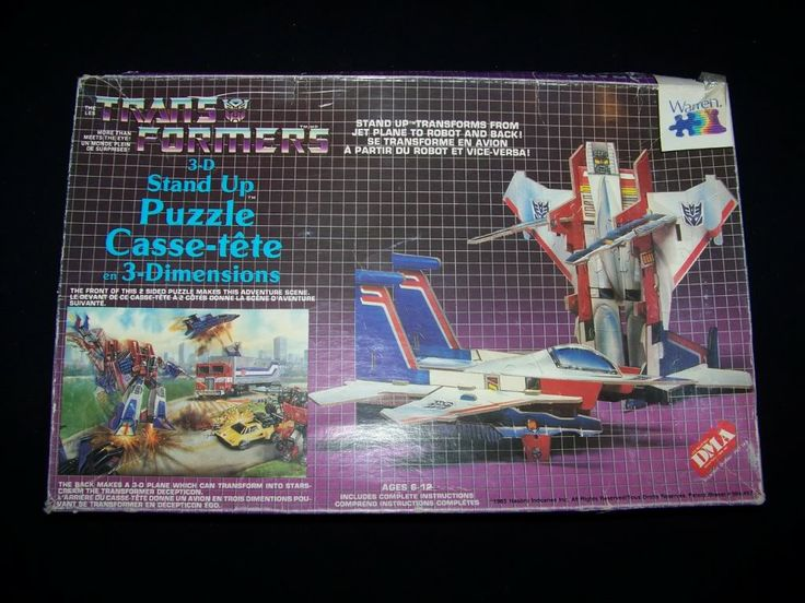 80s transformers toys for sale | Transformers 100% complete 3-D Stand Up Puzzle 1985 vintage 3D ...