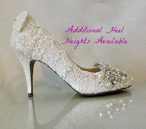 Check out this item in my Etsy shop https://www.etsy.com/listing/92033900/lace-wedding-shoes-vintage-lace-wedding