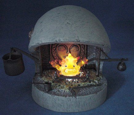 Cominica Image Collection XI - Howl's Moving Castle: Calcifer Fireplace Set by Yamato,