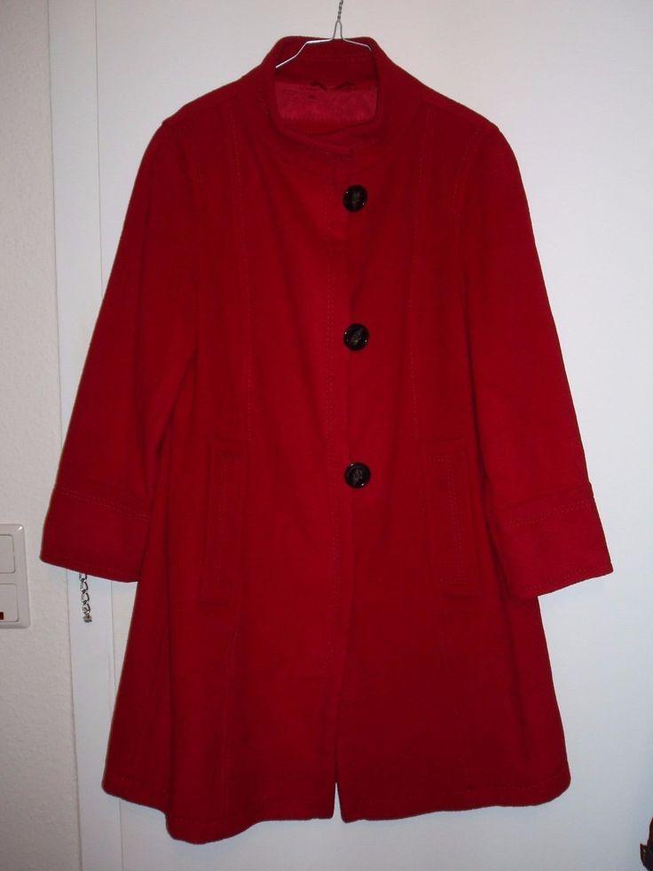 "Toller Mantel Jacke ""GIL BRET"" Gr. 40, rot, Wolle mit Kaschmir in Kleidung & Accessoires, Damenmode, Jacken & Mäntel   eBay!"
